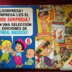 Tebeos: PUBLICIDAD BRUGUERA Nº 6 SOBRE SORPRESA CARTULINA AÑOS 80. Lote 182850960