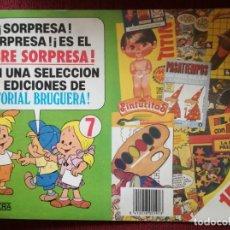 Tebeos: PUBLICIDAD BRUGUERA Nº 7 SOBRE SORPRESA CARTULINA AÑOS 80. Lote 182851366