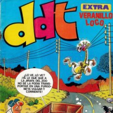 Tebeos: 2 TEBEOS DDT EXTRA Nº 62 VERANILLO LOCO Y SUPER DDT Nº 125 , BRUGUERA. Lote 182926780