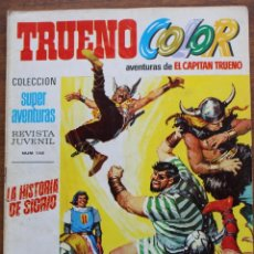Tebeos: TRUENO COLOR Nº 16 AÑO I 1ª PRIMERA EPOCA BRUGUERA 8 PTS EL CAPITAN TRUENO. Lote 182939892