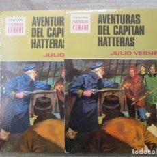 BDs: COLECCION HISTORIAS COLOR - AVENTURAS DEL CAPITAN HATTERAS - JULIO VERNE - BRUGUERA. Lote 182992681