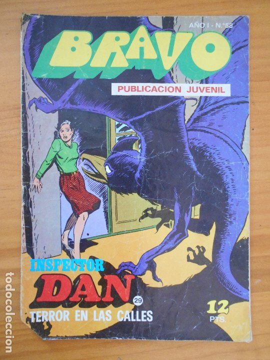 BRAVO Nº 58 - INSPECTOR DAN Nº 29 - BRUGUERA (FW) (Tebeos y Comics - Bruguera - Bravo)