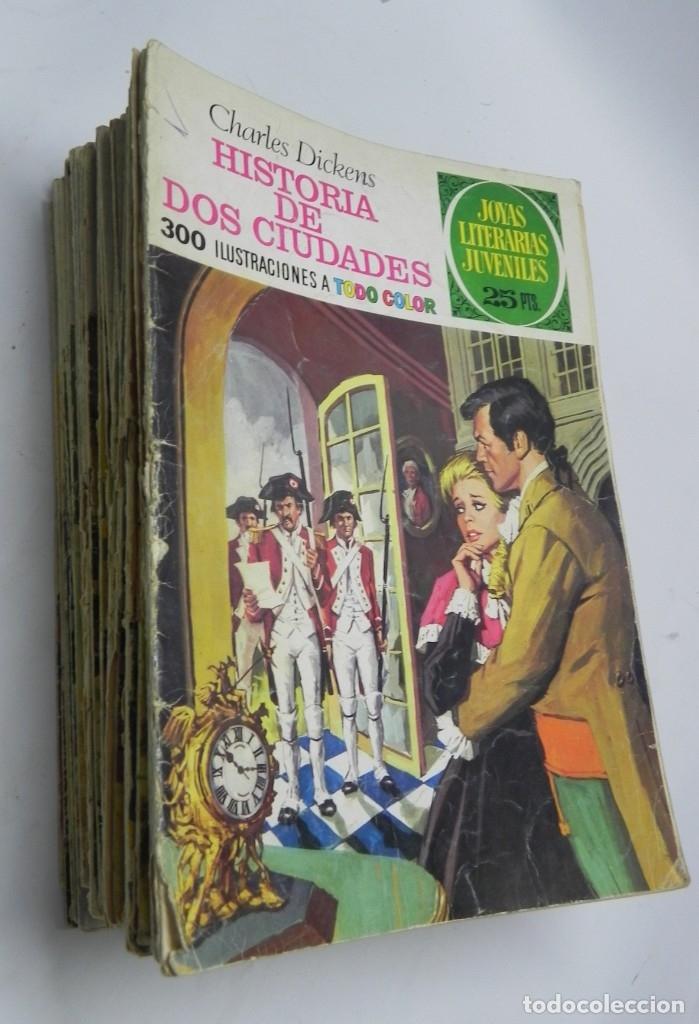 LOTE 51 TEBEOS DE JOYAS LITERARIAS JUVENILES, ESTAN LOS NUMEROS 3-8-10-11-12- 20-25-27-38-42-43-44-4 (Tebeos y Comics - Bruguera - Joyas Literarias)