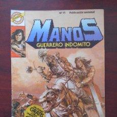 Tebeos: MANOS GUERRERO INDOMITO Nº 11 - CON POSTER - BRUGUERA (7M). Lote 183253686