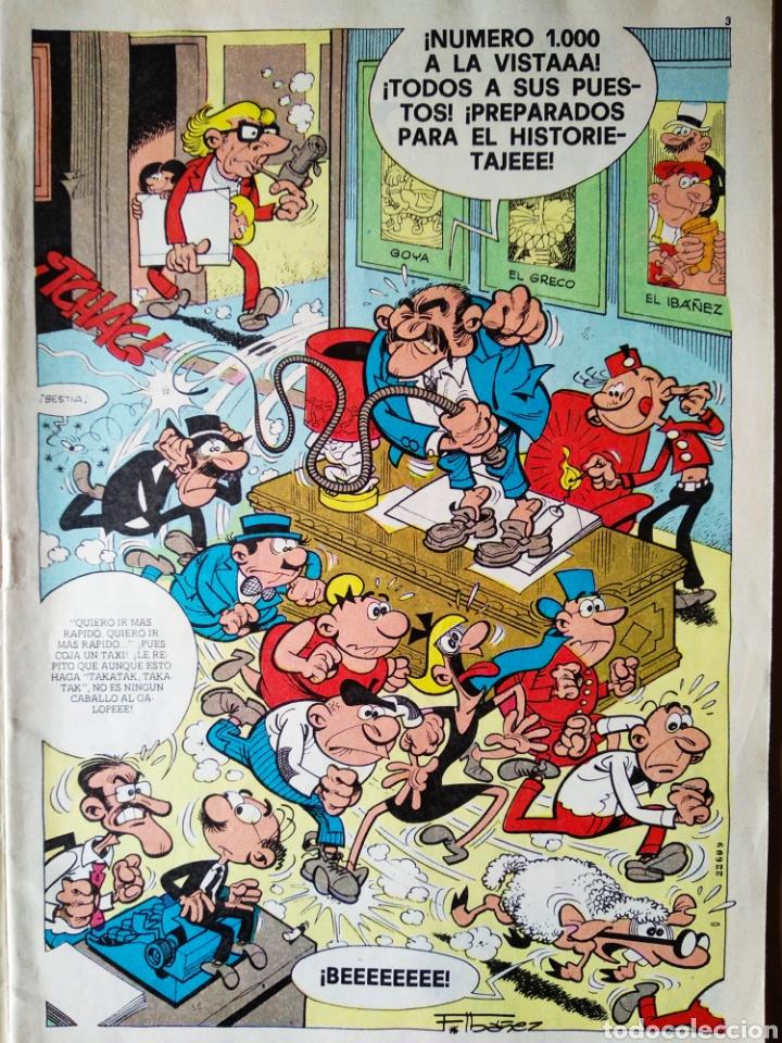 Tebeos: Tío Vivo número 1000 (Bruguera, 1980). 52 páginas a color. Con póster de Ibáñez. - Foto 2 - 183289557