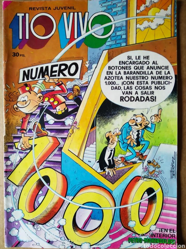 TÍO VIVO NÚMERO 1000 (BRUGUERA, 1980). 52 PÁGINAS A COLOR. CON PÓSTER DE IBÁÑEZ. (Tebeos y Comics - Bruguera - Tio Vivo)