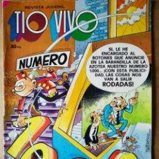 Tebeos: TÍO VIVO NÚMERO 1000 (BRUGUERA, 1980). 52 PÁGINAS A COLOR. CON PÓSTER DE IBÁÑEZ.. Lote 183289557