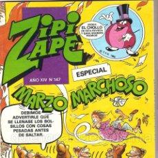 Tebeos: COMIC ZIPI Y ZAPE EXTRA MARZO MARCHOSO Nº 147 NUEVO AÑO XIV. Lote 183296498