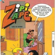 Tebeos: COMIC ZIPI Y ZAPE 668 AÑO XIV NUEVO 1986. Lote 183303735