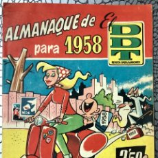 Tebeos: EL DDT. ALMANAQUE PARA 1958. ORIGINAL. MUY BUEN ESTADO. PORTADISTA GIN. Lote 183319562