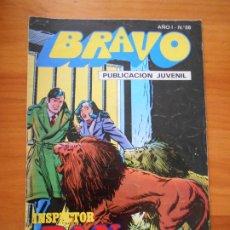 Tebeos: BRAVO Nº 28 - INSPECTOR DAN Nº 14 - BRUGUERA (GE). Lote 183388408