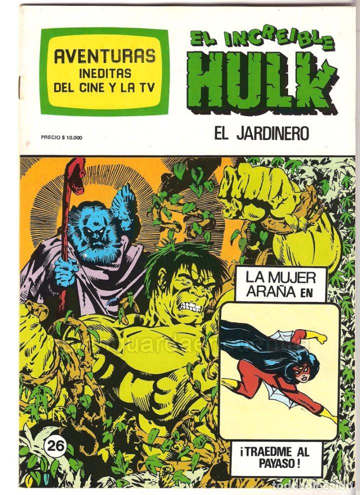 Nº 26 SPIDERMAN-EL HOMBRE Y LA MUJER ARAÑA-HULK-AVENTURAS CINE- TV NUEVO AÑOS 80 (Tebeos y Comics - Bruguera - Cuadernillos Varios)
