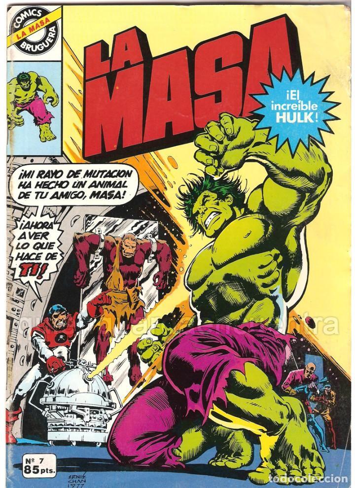 LA MASA Nº 7 BRUGUERA 1981 EL INCREIBLE HULK (Tebeos y Comics - Bruguera - Cuadernillos Varios)
