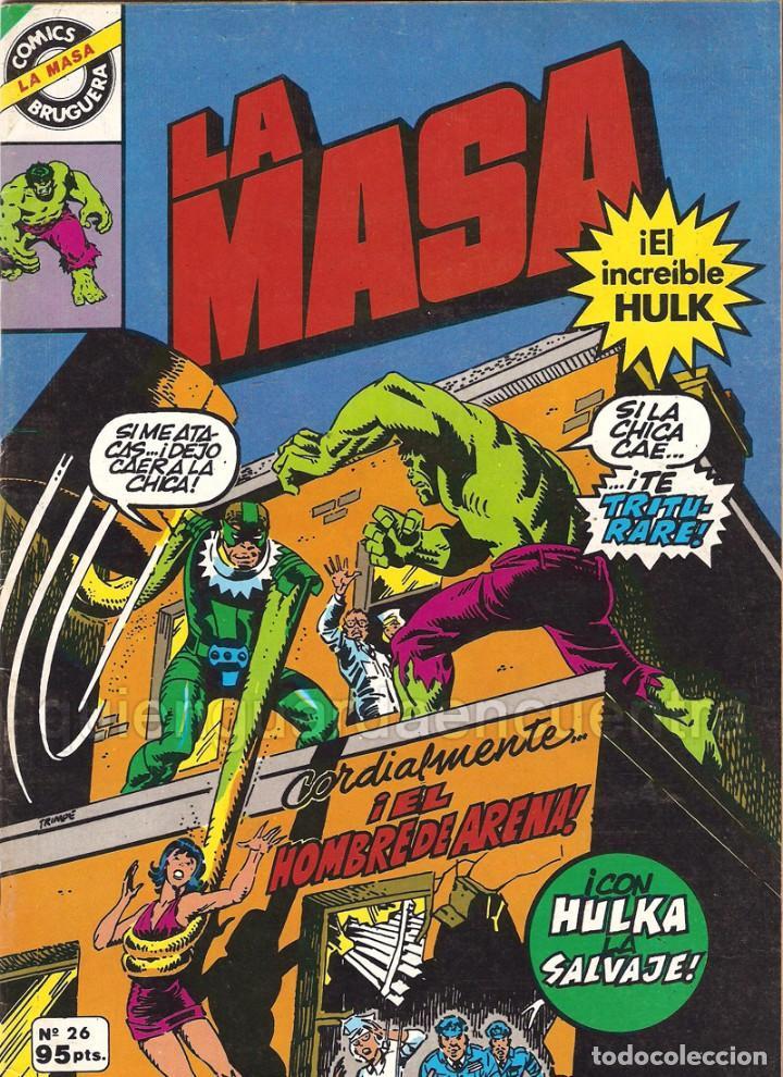 LA MASA Nº 26 BRUGUERA 1981 EL INCREIBLE HULK (Tebeos y Comics - Bruguera - Cuadernillos Varios)