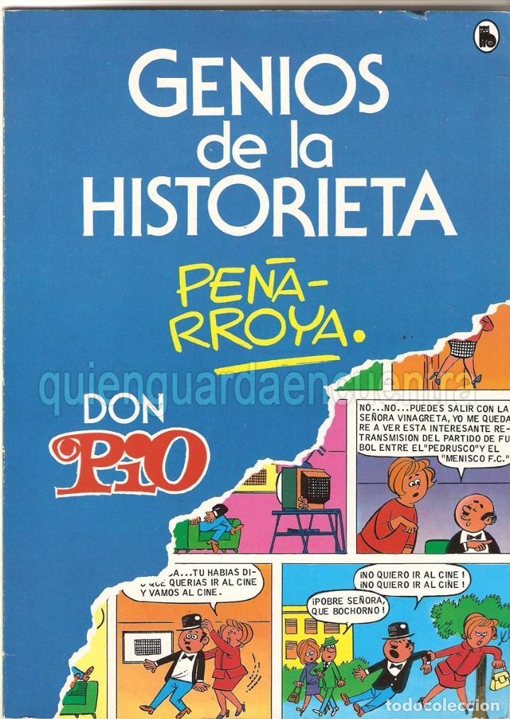 DON PÍO PEÑARROYA GENIOS DE LA HISTORIETA AÑO 1 Nº 2 DE BRUGUERA 1985 NUEVO (Tebeos y Comics - Bruguera - Cuadernillos Varios)
