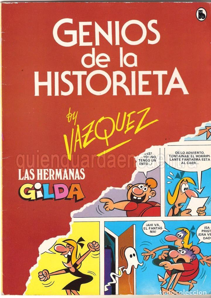 COMIC LAS HERMANAS GILDA VAZQUEZ GENIOS DE LA HISTORIETA AÑO 1 Nº 1 DE BRUGUERA-NUEVO (Tebeos y Comics - Bruguera - Cuadernillos Varios)