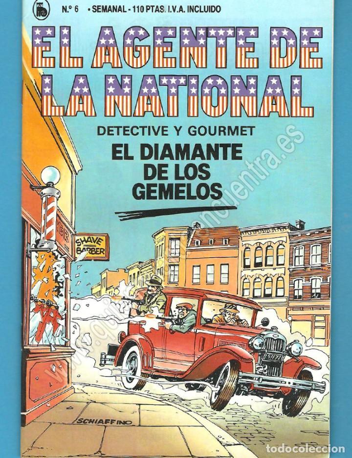 EL AGENTE DE LA NATIONAL 6-SEMANARIO DE BRUGUERA NOVELADO CON VIÑETAS NUEVO 1986 (Tebeos y Comics - Bruguera - Cuadernillos Varios)