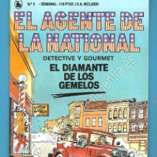 Tebeos: EL AGENTE DE LA NATIONAL 6-SEMANARIO DE BRUGUERA NOVELADO CON VIÑETAS NUEVO 1986. Lote 183461793
