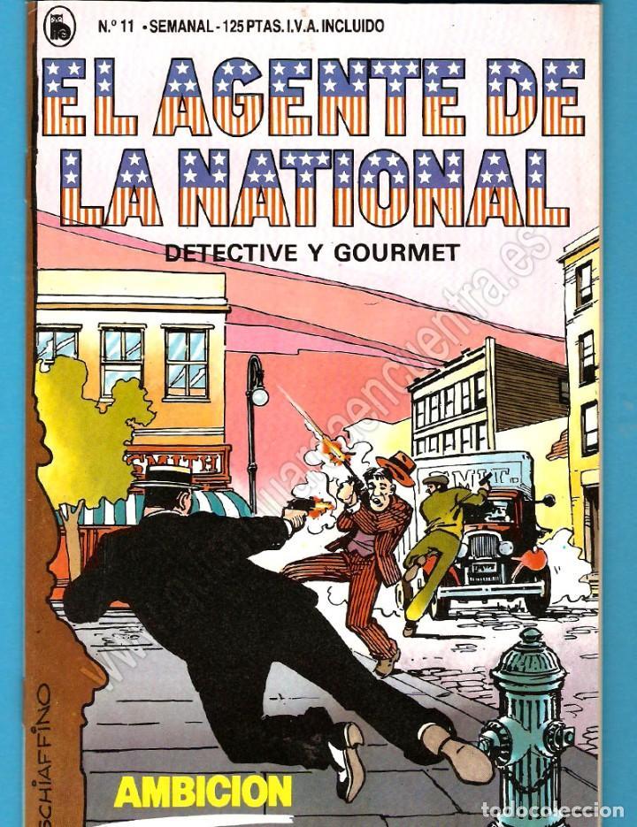 EL AGENTE DE LA NATIONAL 11-SEMANARIO DE BRUGUERA NOVELADO CON VIÑETAS NUEVO 1986 (Tebeos y Comics - Bruguera - Cuadernillos Varios)