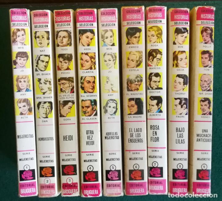 HISTORIAS SELECCIÓN - SERIE MUJERCITAS 1 COMPLETA (9) - HOMBRECITOS HEIDI ROSA EN FLOR (Tebeos y Comics - Bruguera - Historias Selección)