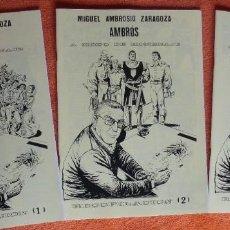 Tebeos: HOMENAJE A MIGUEL AMBROSIO ZARAGOZA- AMBROS 3 NUMEROS. Lote 183692773