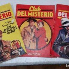 Tebeos: CLUB DEL MISTERIO Nº 1 Y 2 + CATALOGO - FOLLETO PUBLICITARIO CON LAS CARACTERISTICAS DE LA COLECCION. Lote 183775976