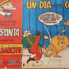Tebeos: MAGOS DE LA RISA Nº 9 ALBUM PULGARCITO CARPANTA UN DIA EN EL CIRCO ESCOBAR. Lote 183827031