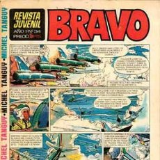 Tebeos: BRAVO - REVISTA JUVENIL- Nº 34 -AQUILES TALÓN-CHICO MONZA-MICHEL TANGUY-BLUEBERRY-1968-M. BUENO-2390. Lote 183853601
