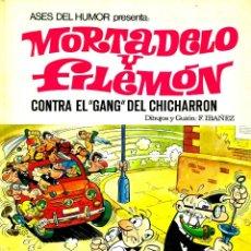 Tebeos: ASES DEL HUMOR: MORTADELO Y FILEMÓN-2: CONTRA EL GANG DEL CHICHARRON (BRUGUERA, 1969) DE IBAÑEZ. Lote 183957088