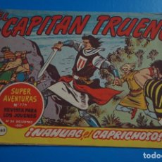 Tebeos: COMIC DE EL CAPITAN TRUENO NAHUAC EL CAPRICHOSO AÑO 1963 Nº 776 DE BRUGUERA LOTE 17. Lote 183993473
