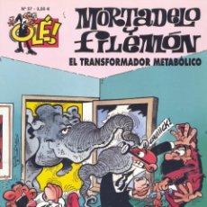 Tebeos: MORTADELO Y FILEMÓN. EL TRANSFORMADOR METABÓLICO. OLÉ Nº57. EDICIONES B, 2007. Lote 184052018