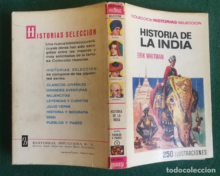HISTORIAS SELECCIÓN - HISTORIA DE LA INDIA 1/68 - SERIE PUEBLOS Y PAISES 1 - MUY BUENO (Tebeos y Comics - Bruguera - Historias Selección)