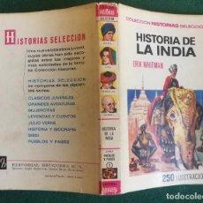 Tebeos: HISTORIAS SELECCIÓN - HISTORIA DE LA INDIA 1/68 - SERIE PUEBLOS Y PAISES 1 - MUY BUENO. Lote 184107255