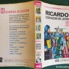 Tebeos: HISTORIAS SELECCIÓN - RICARDO CORAZÓN DE LEÓN 3/70 - SERIE HISTORIA Y BIOGRAFÍA 29 - MUY BUENO. Lote 184115396