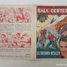Tebeos: BALA CERTERA. COLECCION DE 8 NUMEROS COMPLETA. 1942. BRUGUERA.. Lote 184287946