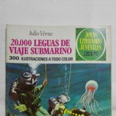 Tebeos: 20.000 LEGUAS DE VIAJE SUBMARINO - JULIO VERNE, Nº 4, JOYAS LITERARIAS JUVENILES, SERIE VERDE. Lote 293257153