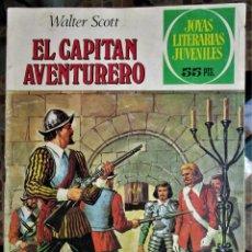 Tebeos: JOYAS LITERARIAS JUVENILES Nº 74. EL CAPITÁN AVENTURERO BRUGUERA 1976. Lote 184744745