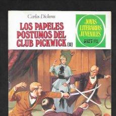 Tebeos: JOYAS LITERARIAS JUVENILES NUMERO 200 LOS PAPELES POSTUMOS DEL CLUB PICKWICK II. Lote 184890852