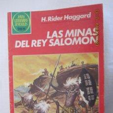 Tebeos: H. RIDER HAGGARD LAS MINAS DEL REY SALOMON Nº 156 JOYAS LITERARIAS JUVENILES. Lote 184934945