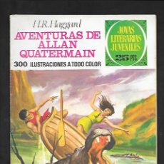 Tebeos: JOYAS LITERARIAS JUVENILES NUMERO 160 AVENTURAS DE ALLAN QUATERMAIN. Lote 185401270