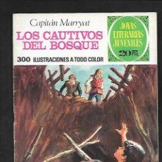 Tebeos: JOYAS LITERARIAS JUVENILES NUMERO 132 LOS CAUTIVOS DEL BOSQUE. Lote 185699892