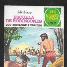 Tebeos: JOYAS LITERARIAS JUVENILES NUMERO 108 ESCUELA DE ROBINSONES. Lote 185717667