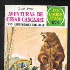 Tebeos: JOYAS LITERARIAS JUVENILES NUMERO 104 AVENTURAS DE CESAR CASCABEL. Lote 185723186
