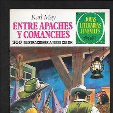 Tebeos: JOYAS LITERARIAS JUVENILES NUMERO 36 ENTRE APACHES Y COMANCHES. Lote 185930020