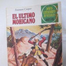 Tebeos: COMIC JOYAS LITERARIAS JUVENILES Nº 12 EL ULTIMO MOHICANO FENIMORE COOPER BRUGUERA 1979 . Lote 185985413
