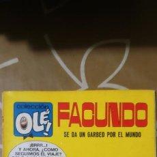 Tebeos: COLECCIÓN OLÉ Nº 16 FACUNDO SE DA UN GARBEO POR EL MUNDO GOSSET 1ª EDICIÓN Nº LOMO BRUGUERA 1971. Lote 186010708