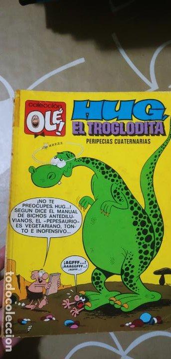 COLECCIÓN OLÉ Nº 61 HUG EL TROGLODITA GOSSET 1ª EDICIÓN Nº LOMO BRUGUERA 1972 MUY DIFÍCIL (Tebeos y Comics - Bruguera - Ole)