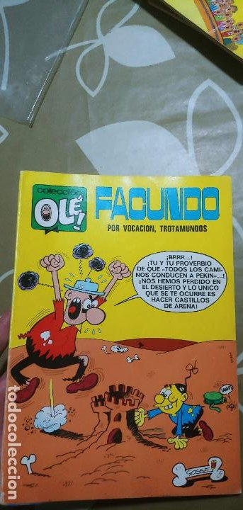 COLECCIÓN OLÉ Nº 37 FACUNDO POR VOCACIÓN TROTAMUNDOS GOSSET 1ª EDICIÓN Nº LOMO BRUGUERA 1971 MBE (Tebeos y Comics - Bruguera - Ole)