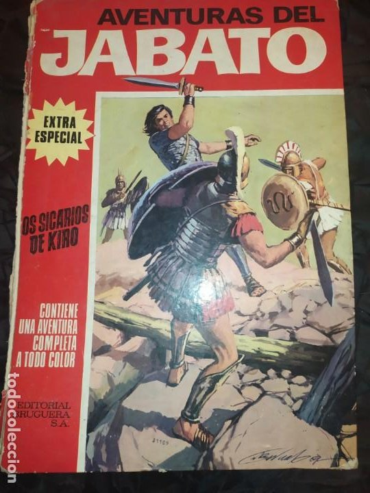1970 JABATO COLOR EXTRA ALBUM ROJO BRUGUERA Nº 5 LOS SICARIOS DE KIRO (Tebeos y Comics - Bruguera - Jabato)