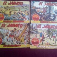 Tebeos: EL JABATO. 4 NÚMEROS. Lote 186227338